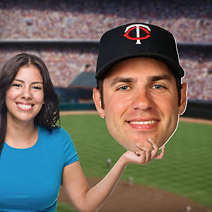 Joe Mauer Big Head Cut Out